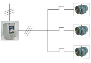 一台变频器怎样同时对多台电动机实施调速控制?